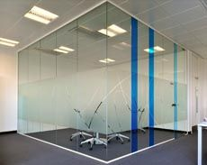 Make your office space attractive by using the frameless glass partition of rainbow aluminium. This glass partition gives a luxury look for your interiors. Glass Partition Designs, Glass Office Partitions, Office Interior Design, Office Interiors, Glass Film Design, Bandeja Bar, Office Graphics, Window Film, Office Walls