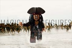 Lego Project 365 May 8th - Ahhhhhhhhh! (128/365) Featuring Lego Minifigure Captain Jack Sparrow - Disney's Pirates of the Caribbean - running for his life!