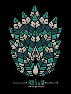 I love beautiful music posters. This one is Iron & Wine...