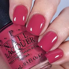 I apologize for my absence lately. Life has been a mess and I've been neglecting a lot of things that aren't absolutely… Great Nails, Cute Nails, Berry Nails, Opi Nail Colors, Opi Nails, Opi Nail Polish, Nail Polishes, Colorful Nail Designs, Manicure And Pedicure