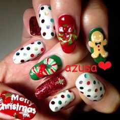 """Christmas Time"" Christmas Nails"