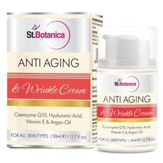 St.Botanica AntiAging & Anti Wrinkle Cream (With Co-Q10, Hyaluronic acid, Vitamin E & Argan Oil).