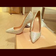 Red bottoms Cinderella CL inspired heels in silver! Brand new comes with box and dust bag. Christian Louboutin Shoes Heels