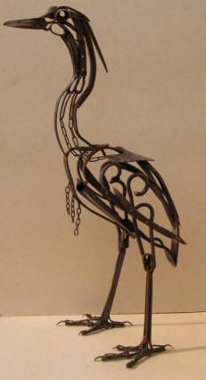 Scrap Metal Art Sculptures | scrap metal sculptures harriet mead repinned from metalwork by jane ...