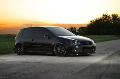 Saving for this cutie!  Blacked out VW Golf TDI, not gunna lower mine though.