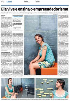 Clarissa Müller GSA 2012 em matéria sobre empreendedorismo do jornal A Tribuna, de Santos.