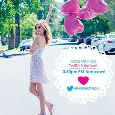G Hannelius Taking Over Make Me Nails Twitter January 21, 2015 - Dis411