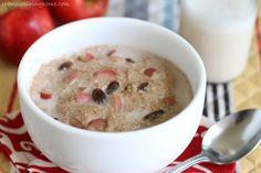 Cinnamon Apple Breakfast Porridge Close Up