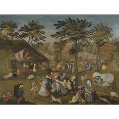FOLLOWER OF MARTEN VAN CLEVE I A VILLAGE KERMESSE ON ST. GEORGE'S DAY oil on panel 51.6 by 67.5 cm.; 20 1/4 by 26 5/8 in. http://www.sothebys.com/en/auctions/ecatalogue/2010/old-master-british-paintings-day-sale-l10037/lot.104.html