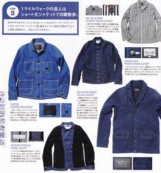 Indigo in Free & Easy French Bleu, Workwear Store, Denim Button Up, Button Up Shirts, City Boy, Men Stuff, Work Jackets, Striped Jacket, Bolognese