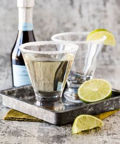 This Prosecco Cocktail, made with gin and elderflower liqueur, is a tasty, festive drink for any holiday gathering.