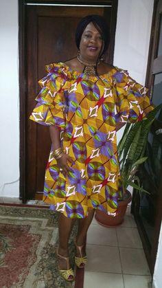 N/A African Print Dresses, African Print Fashion, Africa Fashion, African Fashion Dresses, African Dress, African Attire, African Wear, African Women, Funky Dresses