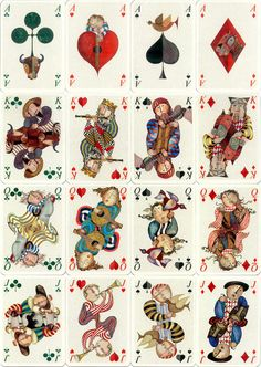playing cards featuring the designs of Bolivian born artist Graciela Rodo Boulanger