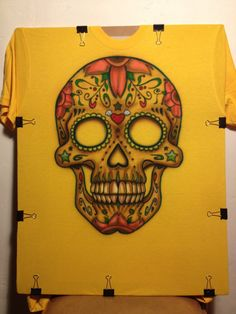 Custom Airbrushed TShirt Day of the Dead Dia de los by zioMik, $50.00