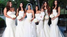 Madrinhas de Kim Kardashian