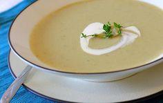 Artichoke soup with saffron