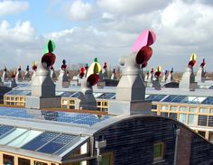 Passive ventilation - see this page also for examples of simple solar chimneys Passive Solar Homes, Passive House, Sustainable Architecture, Architecture Details, Sustainable Design, Solar Tiles, Passive Cooling, Eco Buildings, Passive Design