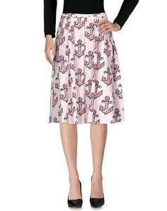 RED VALENTINO 3/4 Length Skirt. #redvalentino #cloth #dress #top #skirt #pant #coat #jacket #jecket #beachwear #