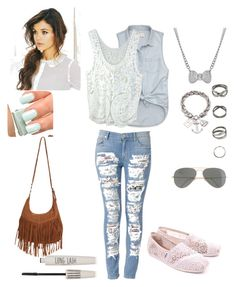 Jeans fashion  by NadiaFouani on Polyvore featuring polyvore, moda, style, Abercrombie & Fitch, Hudson Jeans, TOMS, Wet Seal, Talullah Tu, J.Crew, Topshop, Butter London, fashion and clothing