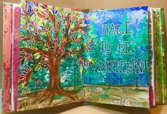 Dare to be different art journal page