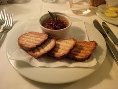 Goose liver créme brûlée with cranberries and home-made brioche @ Restaurant Plachutta's Gasthaus zur Oper