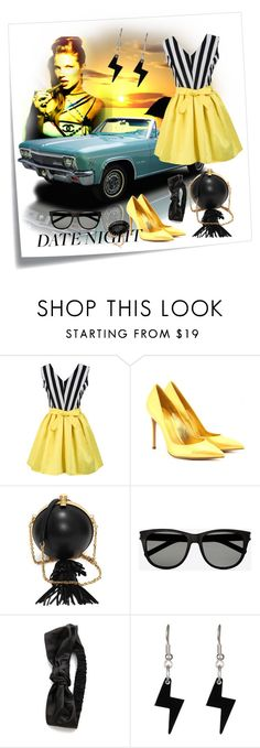 """""""Date night"""" by kari-c ❤ liked on Polyvore featuring Post-It, Gianvito Rossi, Alexander McQueen, Yves Saint Laurent, Eugenia Kim, Tatty Devine and Ivanka Trump"""