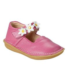 Look what I found on #zulily! Magenta Daisy Leather Mary Jane by Rainbow Steps #zulilyfinds