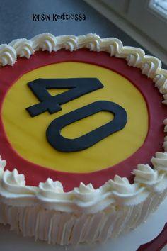 Kirsin keittiössä: Kakku 40-vuotiaalle 40th Birthday, Desserts, Food, Tailgate Desserts, Deserts, 40 Birthday, Essen, Postres, Meals