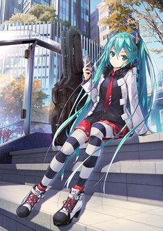 Miku-chan аниме, Anime Art, vocaloid, Hatsune Miku