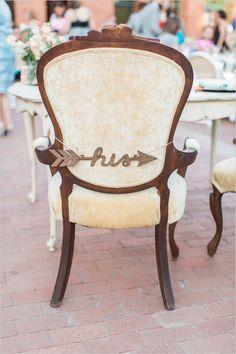 his arrow chair sign