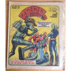 2000 AD & Tornado #177 September 1980 UK Paper Sci Fi Comic