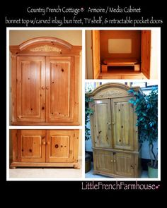 My next project.  To transform our old entertainment center into storage and paint it.