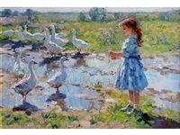 """La petite fermière"" by Vladimir Gusev."