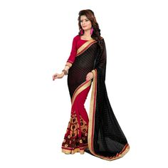 Buy Aarti Designer Saree Black Chiffon Saree by undefined, on Paytm, Price: Rs.3999?utm_medium=pintrest
