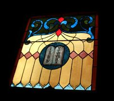 Stained Glass Square Panel - the ten commandments at Provenance in Philadelphia