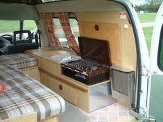 Camper Van Interiors   We have now sadly sold this campervan and now run a yellow Renault 4 ...