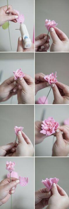 flor de fieltro. tutorial. ENTRAR