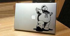 15 Cool Stickers for your MacBook Apple Stickers, Cool Stickers, Apple Mac Laptop, Macbook Decal Stickers, Ghost Busters, Geek Out, Silhouette Projects, Sticker Design, Creative Inspiration