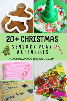22 fun Christmas sensory play activities that toddlers and preschoolers will love! #Christmas #sensory #playdough #slime #5senses #holidays #finemotor #art #age2 #age3 #toddlers #preschool #teaching2and3yearolds Activities For 5 Year Olds, Sensory Activities For Preschoolers, Christmas Activities For Toddlers, Infant Activities, Merry Christmas, Christmas Themes, Christmas Crafts, Christmas Goodies, Christmas Stuff