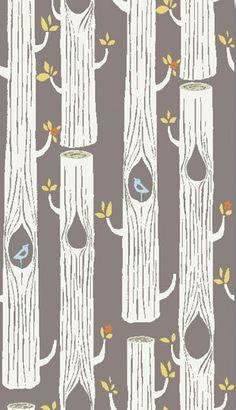 Tree Stripes Shroom, Monaluna Circa 52 for Birch Fabrics, Organic Fabric