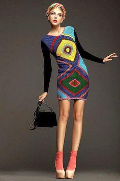 UNCINETTO tendenze moda  abito crochet esclusiva  di LecrochetArt, $420.00