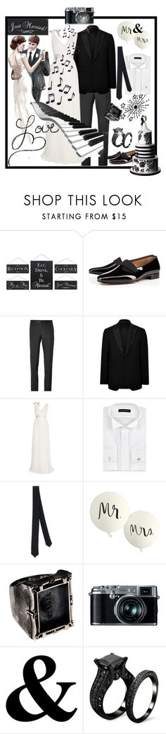 """Mr & Mrs"" by runners ❤ liked on Polyvore featuring Reception, Christian Louboutin, Dolce&Gabbana, Baldessarini, Lanvin, Forzieri, Patrizia Pepe, Royal Doulton, Kate Spade and Retrò"