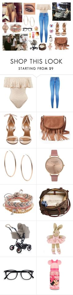 """""""Day with Harry and Anne in London"""" by louisericoul ❤ liked on Polyvore featuring Aquazzura, Apt. 9, Mary Kay, Michael Kors, Olivia Burton, Aéropostale, Monsoon, Carter's and Disney"""