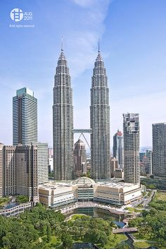 The Petronas Twin Towers (also known as the Petronas Towers or just Twin Towers), in Kuala Lumpur, Malaysia