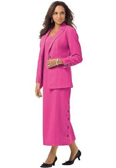 Roamans Women's Plus Size Side Button Jacket Dress (Passion Pink,14 W) Roamans,http://www.amazon.com/dp/B00AYZWFBS/ref=cm_sw_r_pi_dp_JO4xrb1FY3H1BJVV