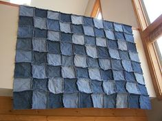 DIY: Denim Quilt from recycled jeans