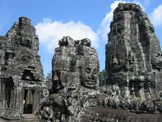 The faces of Bayon Temple.