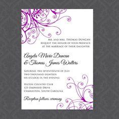 Printable Wedding Invitation Template  by AffordableDIYWedding
