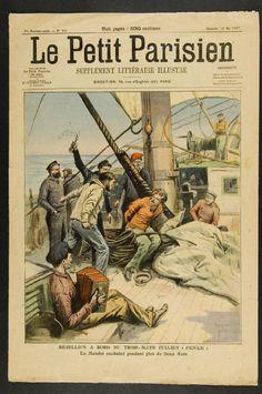 """Le Petit Parisien: Rebellion à bord du navire italien """"Fenice"""". 1907/05/12"""