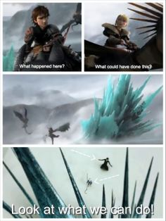 Did anyone else think of Jack and Pitch's ice sculpture when they saw the BLACK AND BLUE ice structure in the HTTYD2 trailer???
